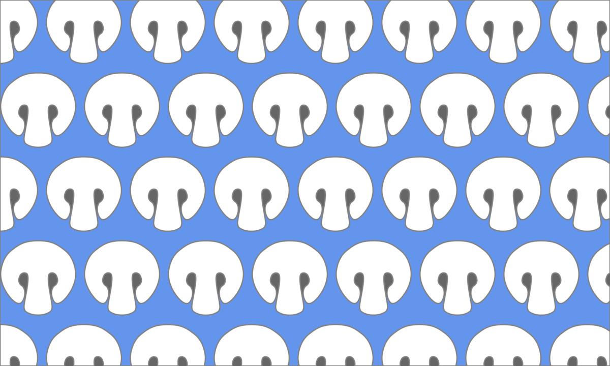 白いマッシュルームの背景素材 PNG