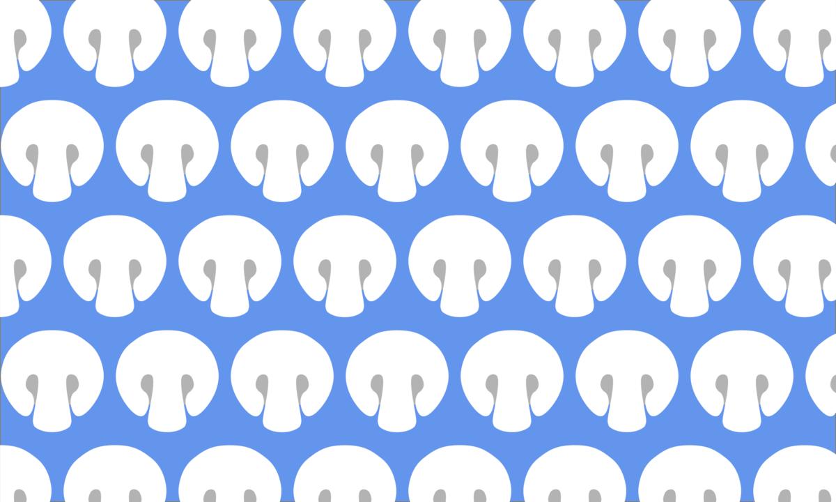 白いマッシュルームの背景素材(縁無し) PNG