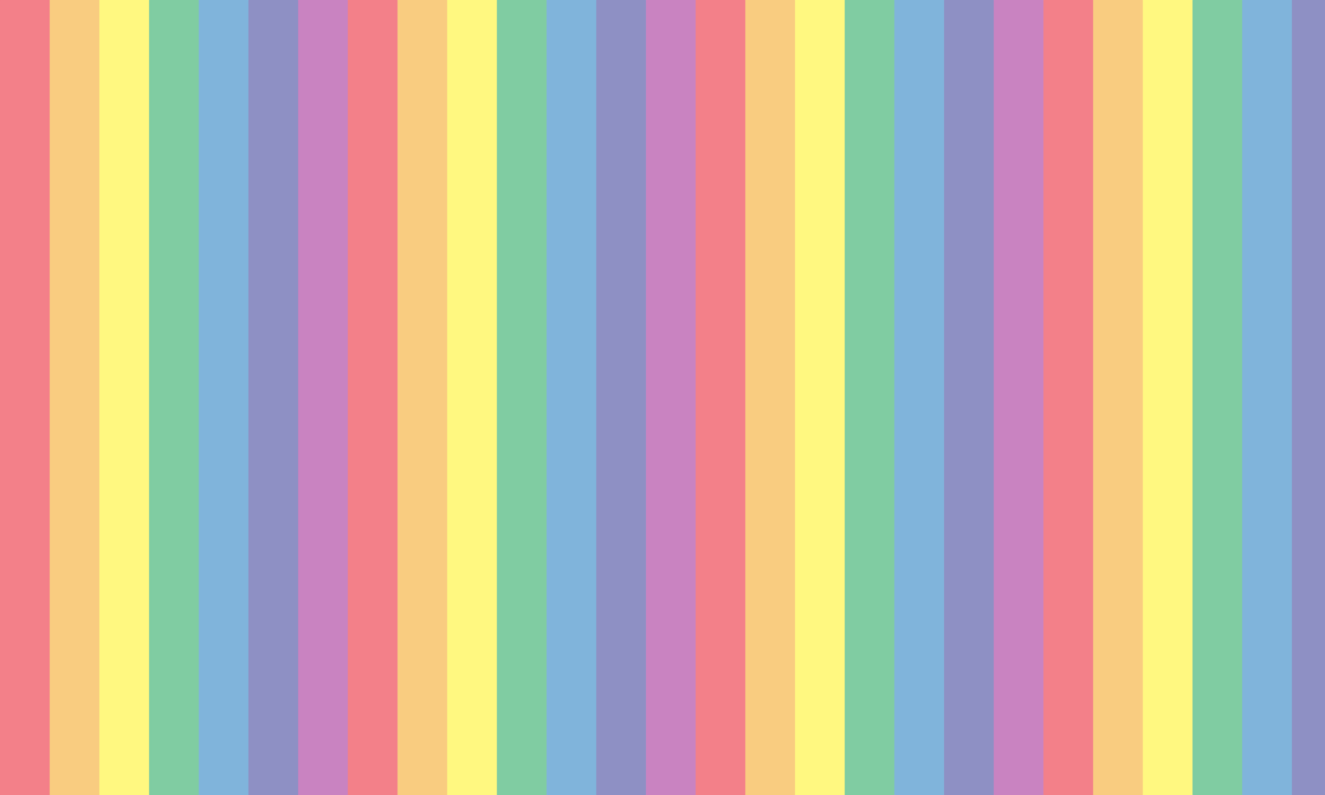 淡い虹色ストライプの背景画像 PNG