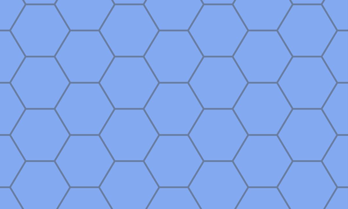 亀甲模様(六角形パターン)の背景画像 PNG