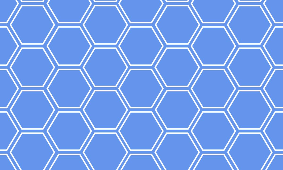 亀甲模様(六角形パターン)の背景画像 4 PNG
