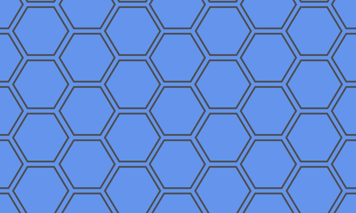 亀甲模様(六角形パターン)の背景画像 3 PNG