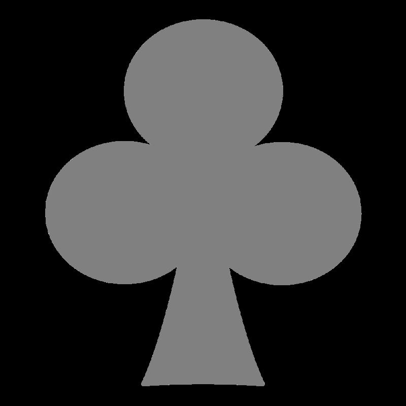 シンプルなクローバー柄 PNG