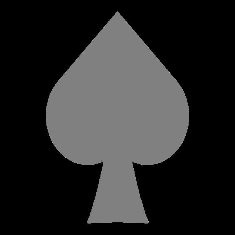 シンプルなスペード柄 PNG
