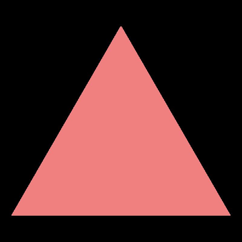 シンプルな正三角形 PNG