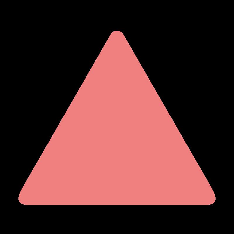 角丸な正三角形 PNG