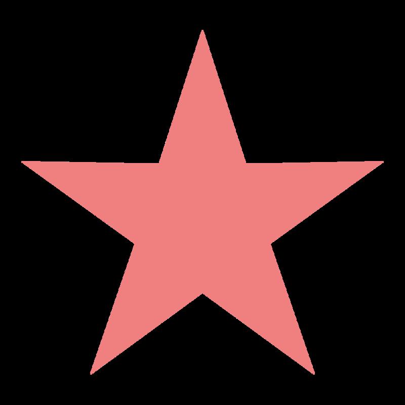 シンプルな星型 PNG