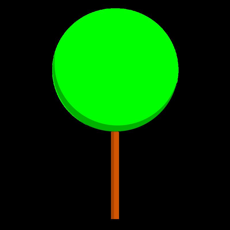 丸い木 PNG
