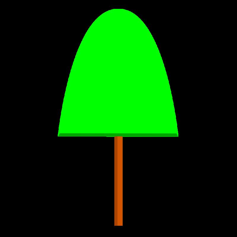 山型の木 PNG