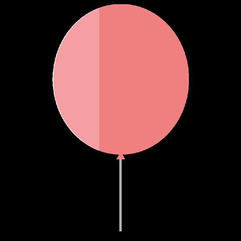 シンプルな丸い風船 PNG