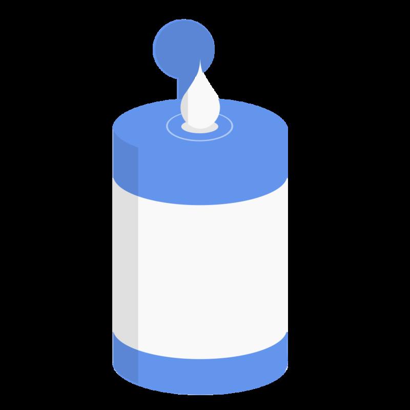 ウェットティッシュ(ボトルタイプ) PNG