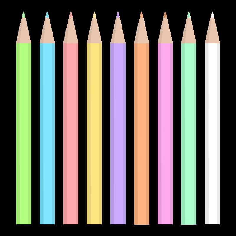 色鉛筆セット PNG