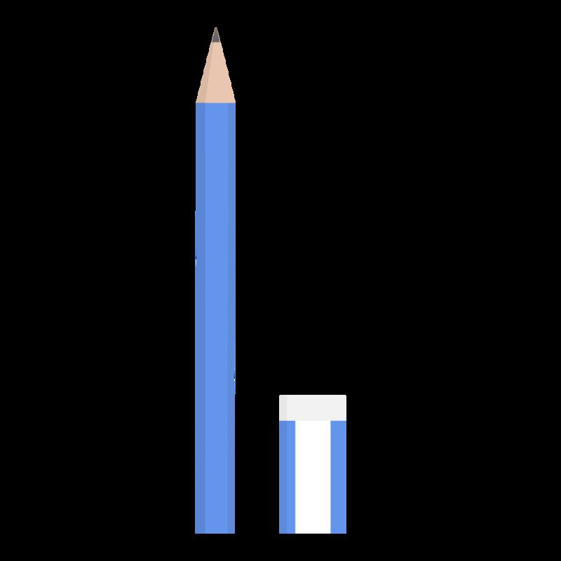 鉛筆と消しゴム PNG