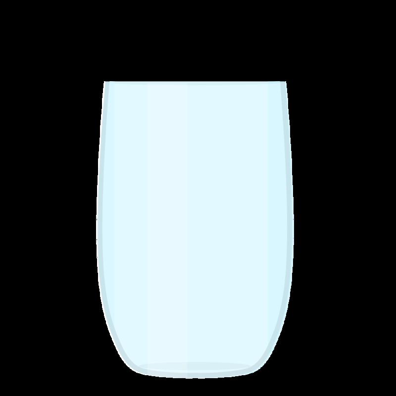 水が注がれたグラス PNG