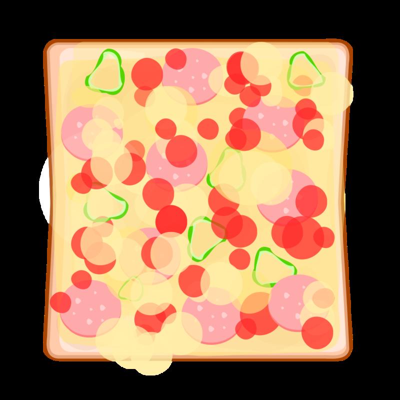 ピザトースト PNG