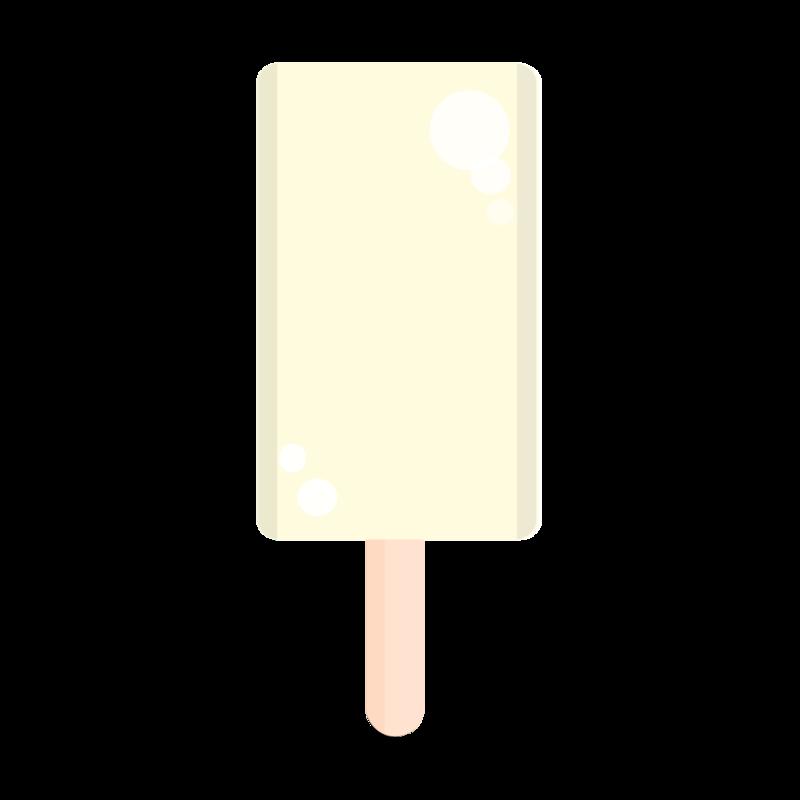 バニラ味の棒アイス PNG