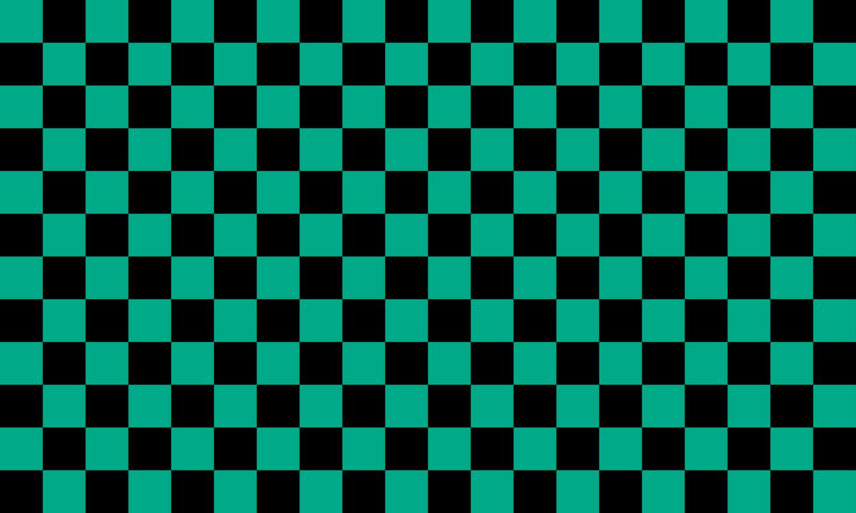 市松模様(黒緑) PNG