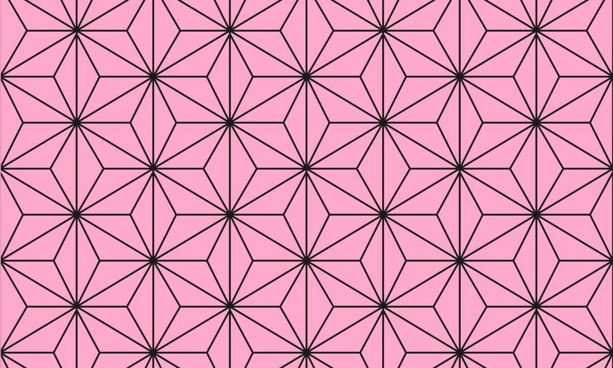 麻の葉模様(ピンク) PNG